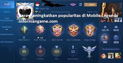 cara meningkatkan popularitas mobile legend
