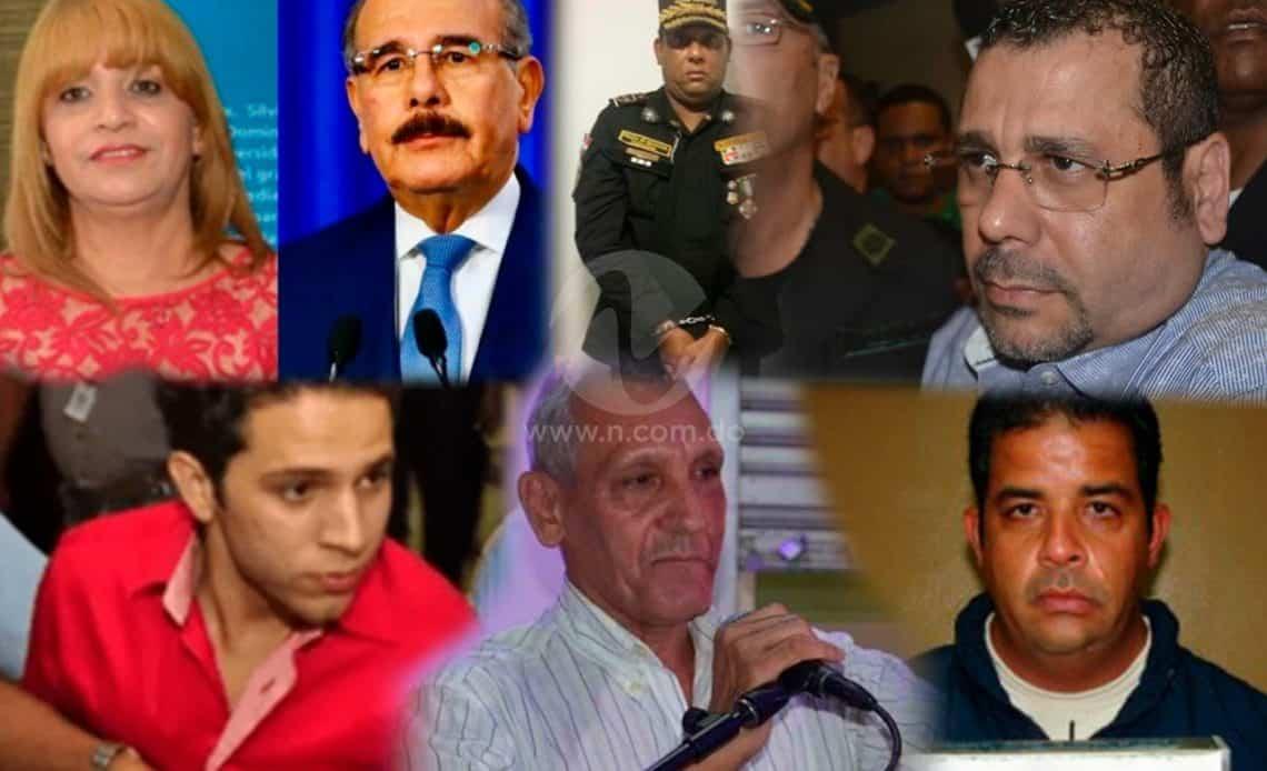 Familiares de funcionarios que han cruzado por las puertas de la justicia en RD
