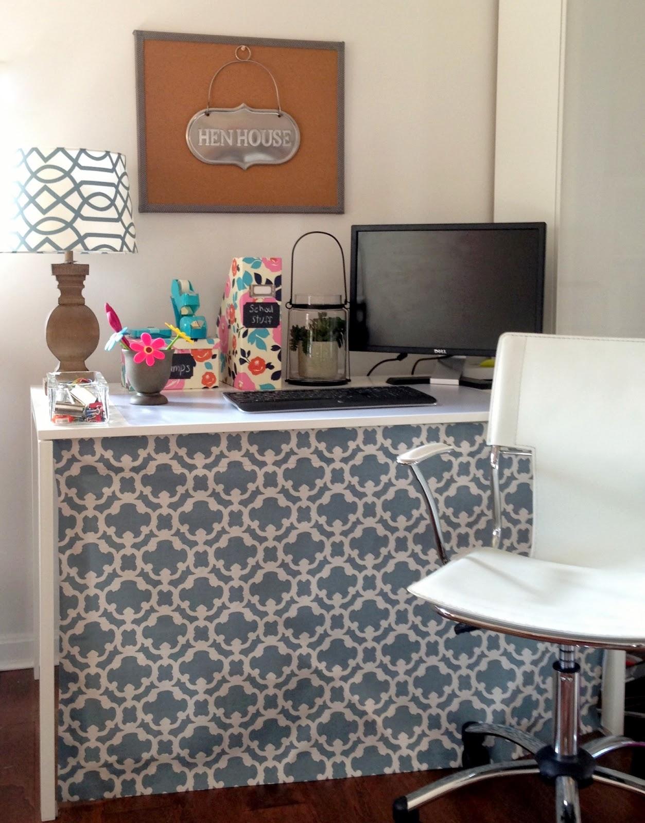 Office Desk Diy: LoveYourRoom: DIY Home Office Desk Skirt Hides Clutter
