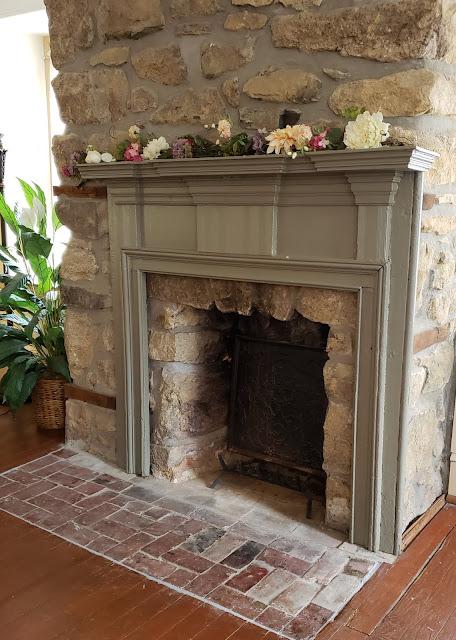 the washington bridal suite fireplace