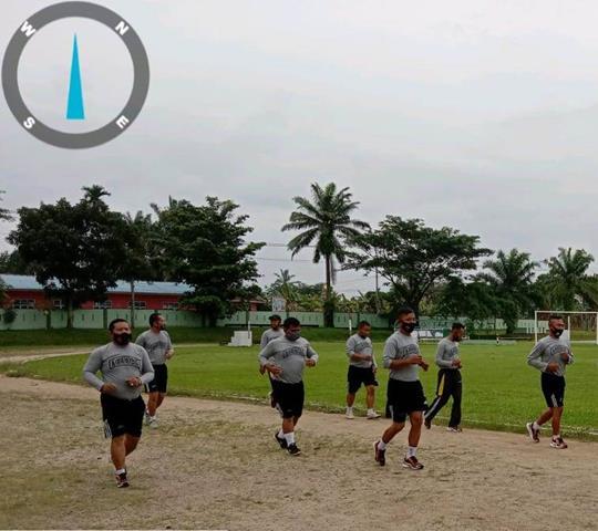 Personel Jajaran Kodim 0207/Simalungun Sebelum Turun Kewilayah Laksanakan Apel Pagi Dan Olah Raga