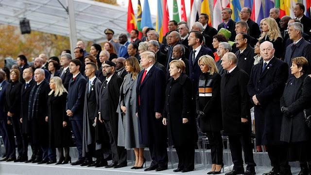70 mandatarios se dan cita en París por la paz