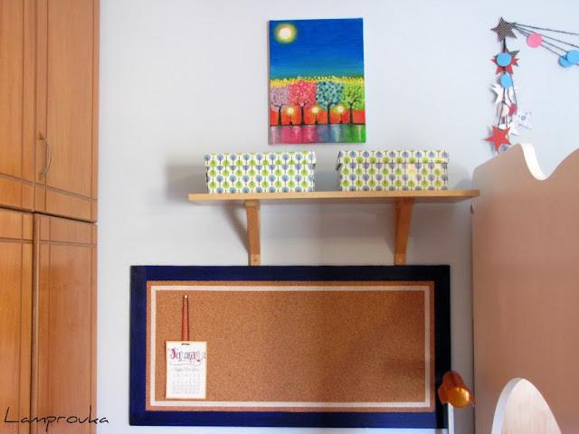 Φτιάξε μόνος σου πίνακα ανακοινώσεων για το παιδικό δωμάτιο.