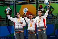 JUEGOS PARALÍMPICOS (Tenis de mesa) - J.M. Ruiz, Jorge Cardona y J.B. Pérez se cuelgan la plata por equipos