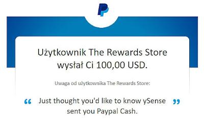 ySense.com — płaci gotówkę za wypełnianie ankiet na PayPal.