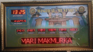 Jam Sholat Digital Running Text