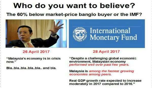 Ekonomi Negara: Nak Dengar Cakap Tokong Guan Eng Atau Laporan Oleh IMF