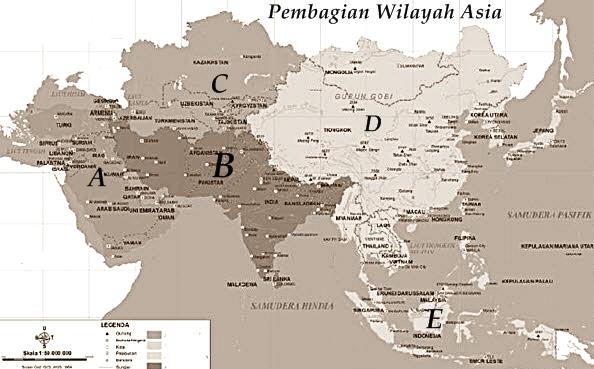Lembar Kerja Peserta Didik Letak dan Luas Benua Asia