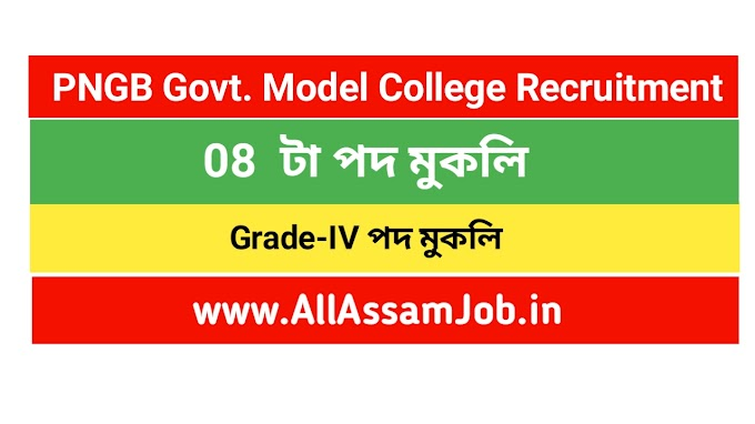 PNGB Govt. Model College Kakopathar, Tinsukia Recruitment : Apply for 08 Non-Teaching Posts