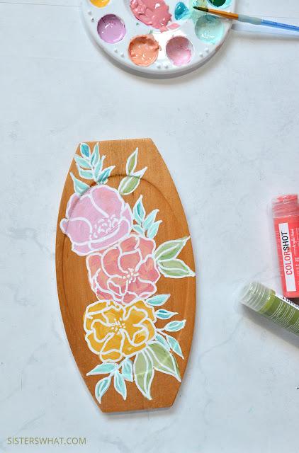 easy modern painted flower art