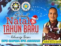 Sapma IPK Asahan Berharap Masyarakat Rayakan Tahun Baru Tetap Patuhi Prokes