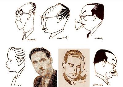 Caricaturas de ajedrecistas