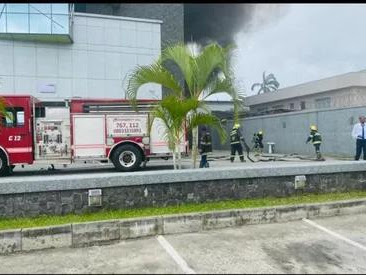 Fire outbreak at Access Bank branch in Lagos