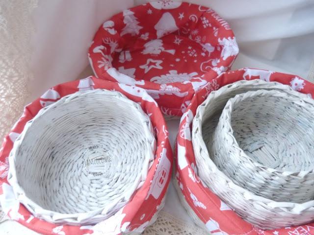 zimowe koszyki z wkładami