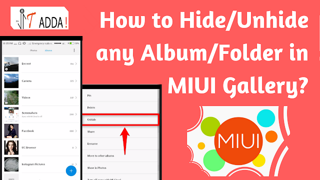 How to Hide/Unhide any Album/Folder in MIUI Gallery?