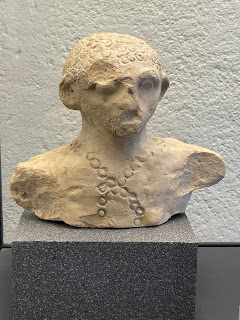 Perhaps a portrait of bust of Bergimus - god of Celtic origin (300 - 100 BC).