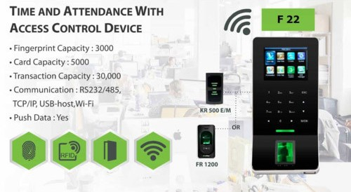 F22 Biometric Time Attendance System
