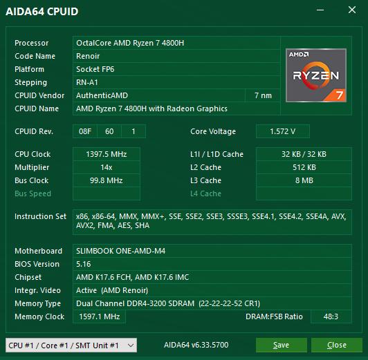 AIDA64 CPUID