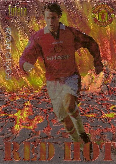red hot Futera Manchester United 1998 Ole Gunnar Solskjaer No RH9