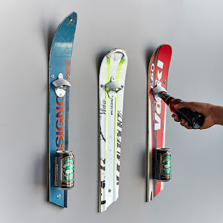 K'Mich Weddings - wedding planning - Wall mounted recycled ski bottle