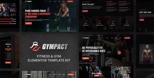 Best Fitness & Gym Elementor Template Kit