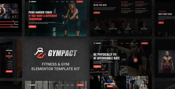 Best Fitness & Gym Elementor Template Kit