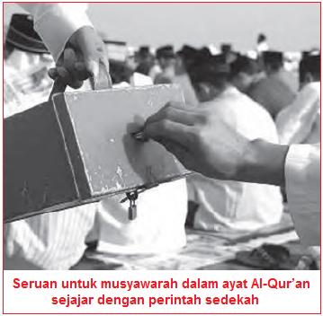 Isi Kandungan Surah Asy-Syura Ayat 38 - Musyawarah sejajar dengan Sedekah