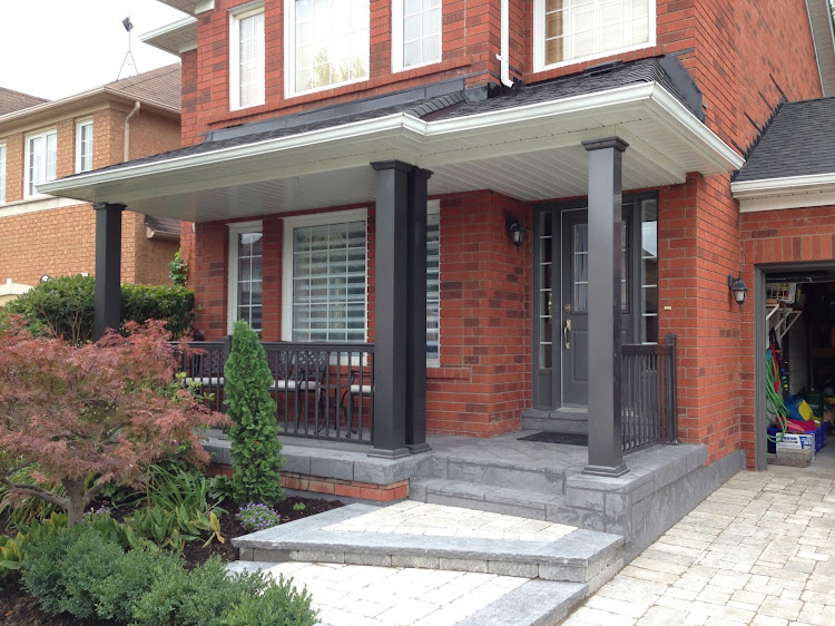 Install porch columns in mississauga replace railings
