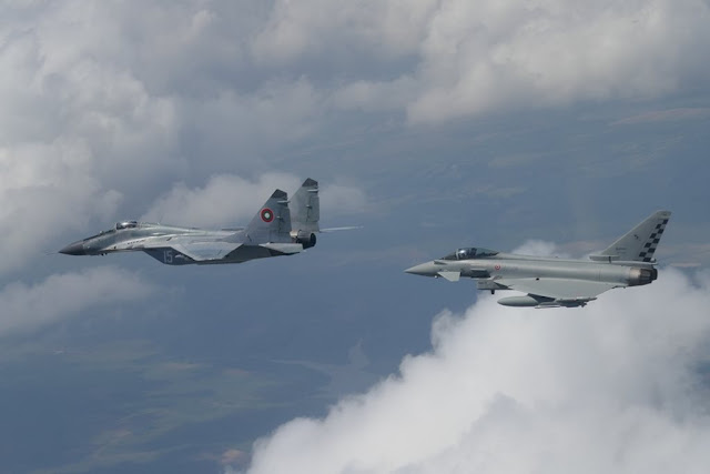 Italian Eurofighters first alert Romania