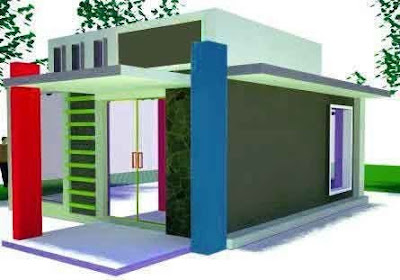 Desain Sebuah Ruko 1 Lantai Jelas Biayanya Lebih Murah Karena Bangunannya Tidak Perlu Membutuhkan Bahan Yang Mahal Untuk Menahan 2 Bangunan