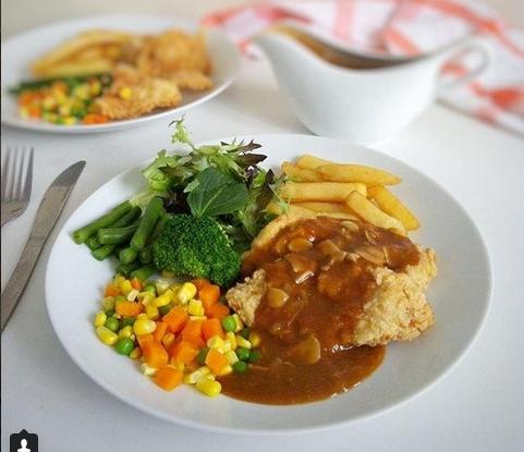 Resep Steak Ayam Crispy Saos Jamur Langsungmasak