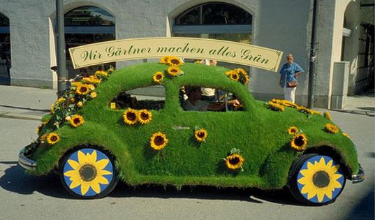 Mobil Berlapis Rumput - Butuh Cuci Mobil atau Tukang Taman