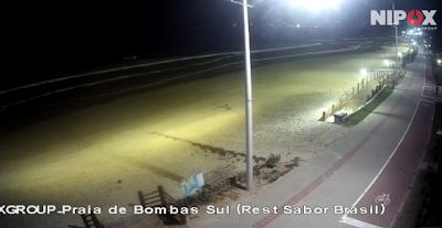 câmera ao vivo da praia de bombas