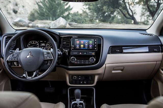 Interior of 2018 Mitsubishi Outlander (GT shown)