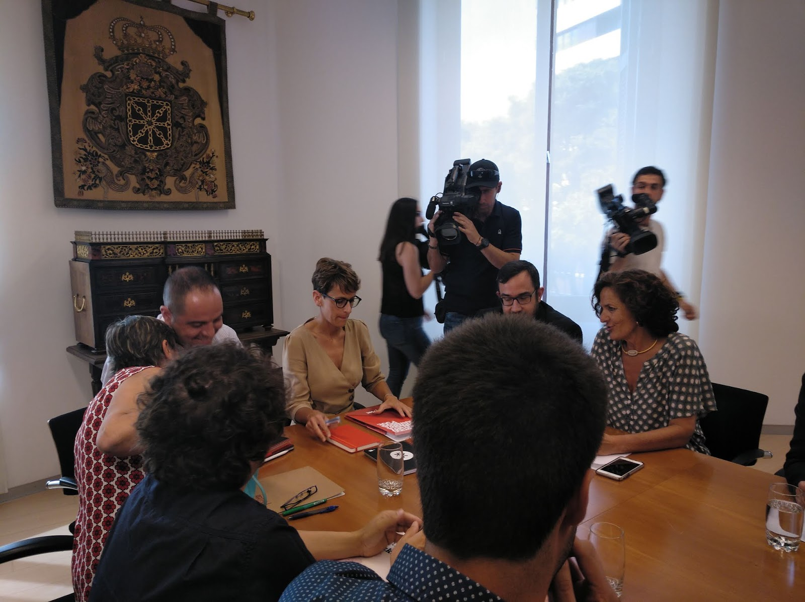 El PSN-PSOE se muestra optimista para la investidura de Chivite