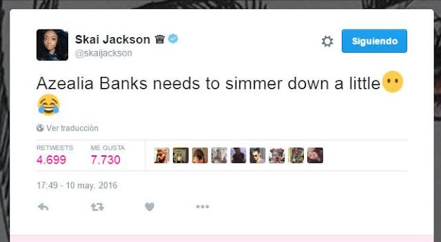 Skai Jackson arremete con Azealia Banks y comienzan discusión en twitter