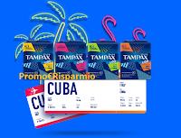 Logo Con Tampax & GO! vinci una fantastica vacanza a Cuba