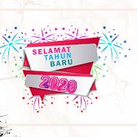 Mentahan poster selamat tahun baru 2021 Keren