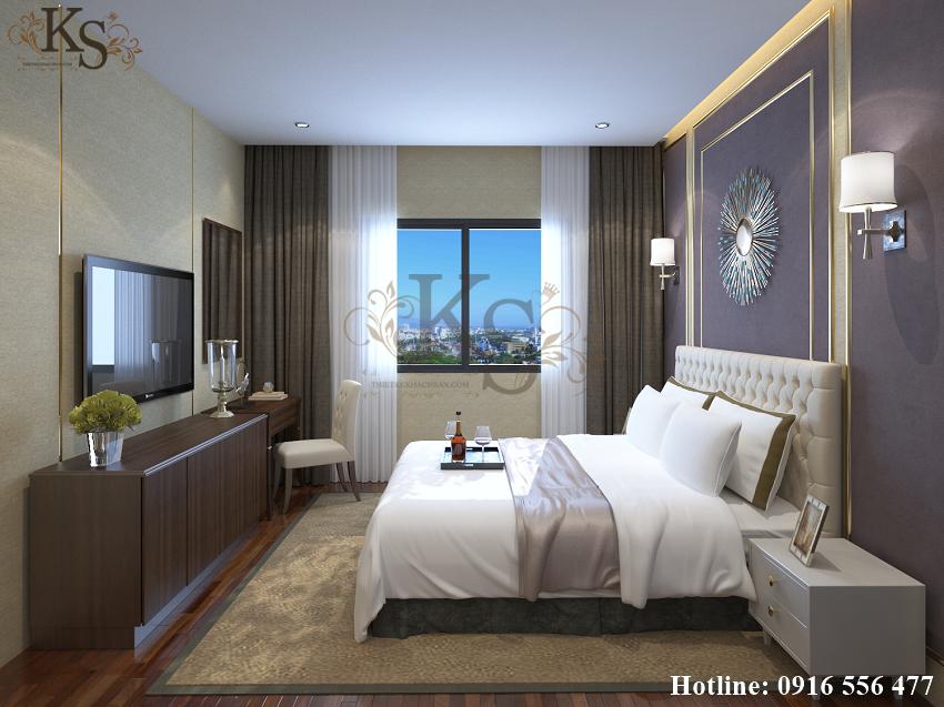 Hình ảnh: Sự thay đổi về tone màu tạo nên sự khác biệt giữa các thiết kế nội thất phòng ngủ khách sạn.