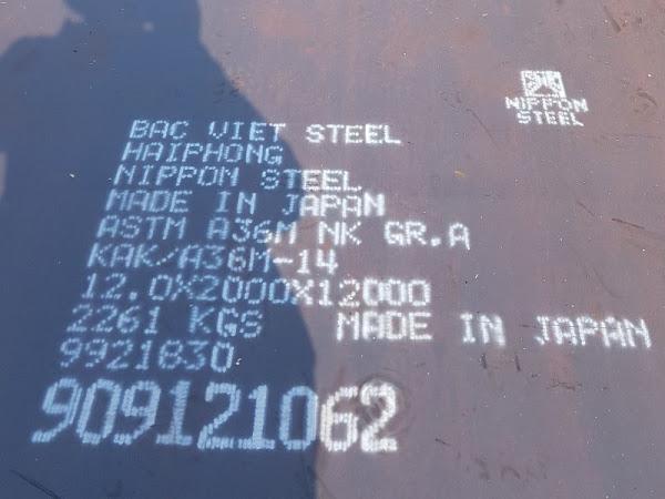 Sản phẩm thép tấm đóng tàu đăng kiểm BV-Grade AH36