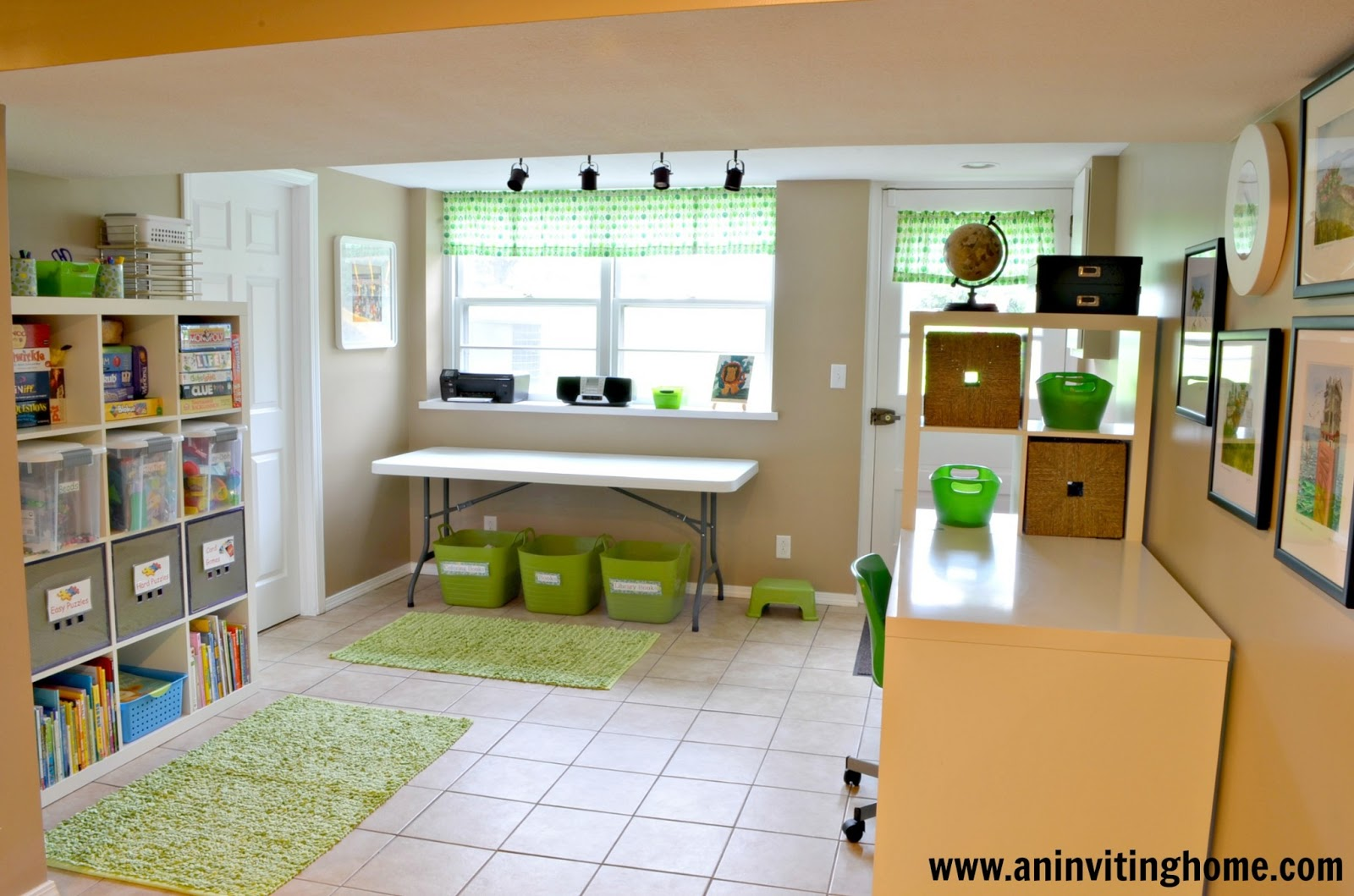 Basement Ideas For Kids An Inviting Home 6 Tips To Organizing A Kid 39s Craft Space