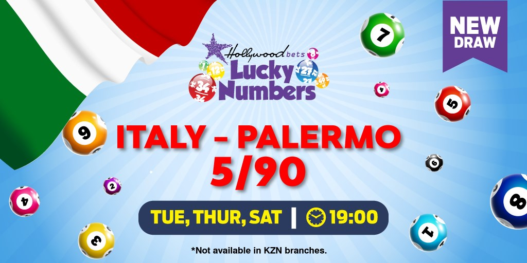 Italy - Palermo 5/90 - Lotto Draw - Hollywoodbets - Lucky Numbers