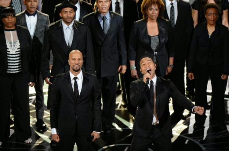"Common and John Legend perform ""Glory"" at the Oscars."