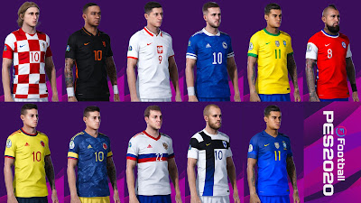 PES 2020 National Teams Kits Update 20/21 by Avif Avriadi