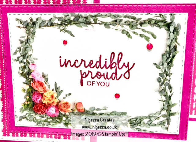 Nigezza Creates Fancy Fold Card For Stampin' For All DT Challenge Stampin' Up! Petal Promenade Needlepoint Nook