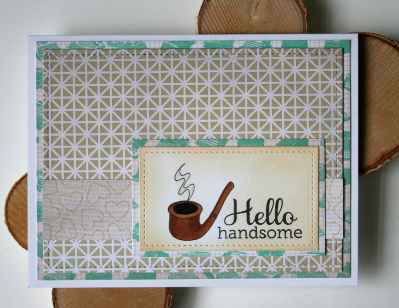 Hello Handsome Masculine Card by Jess Moyer featuring Twelve Days from Essentials by Ellen
