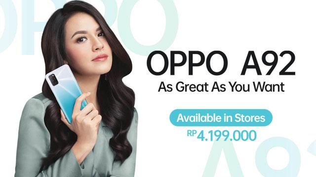 Harga Oppo A92 di Indonesia Rp4.199.000