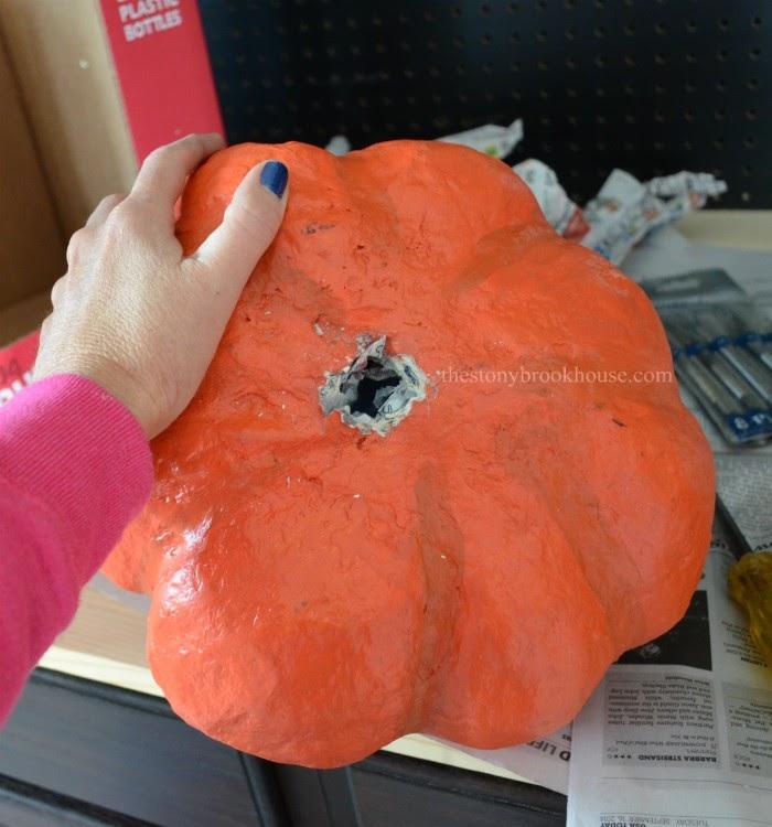 making holes in pumpkins