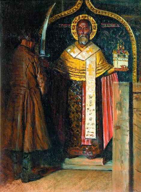 Василий Васильевич Верещагин - Икона Николы с верховья реки Пинеги. 1894