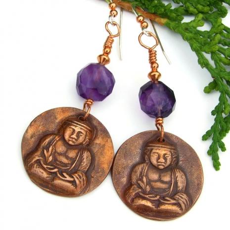 buddha crown chakra yoga earrings gift for women